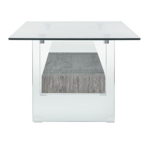 Safavieh - Kayley Glass Coffee Table - Glass / Black Oak