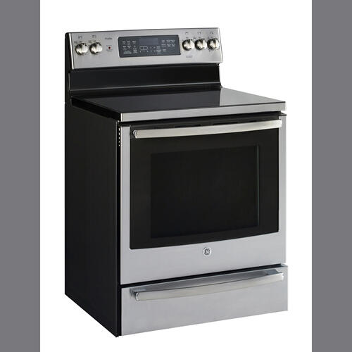 "GE Profile 30"" Free Standing Electric Convection Range Stainless Steel PCB940SKSS"