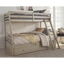 Lettner Twin Over Full Bunk Bed With 1 Large Storage Drawer Light Gray