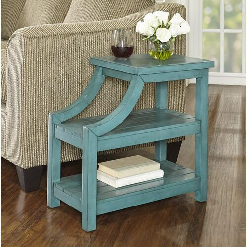 2 Open Shelves Side Table, Teal