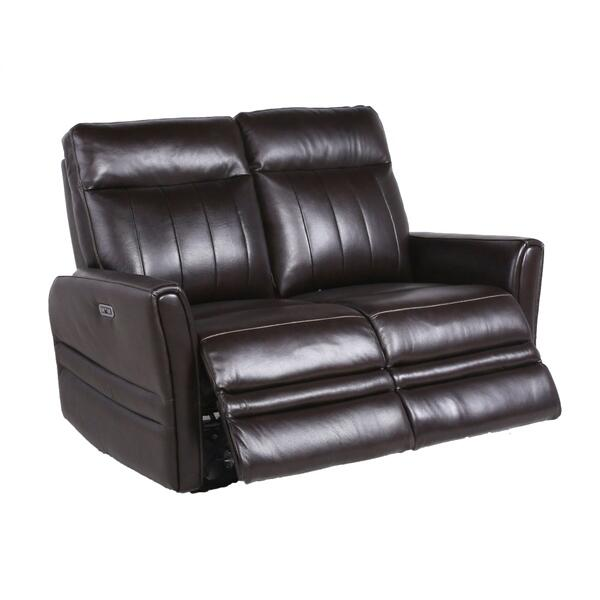 Coachella Dual Power Reclining Loveseat, Brown