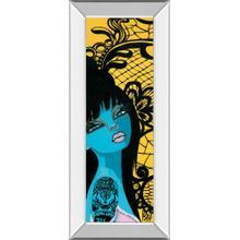 """""""Ink Chiffon I"""" By Bev Hogue Mirror Framed Print Wall Art"""