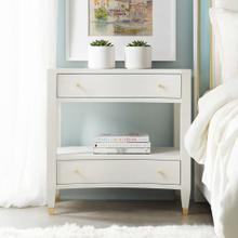 White Linen Nightstand
