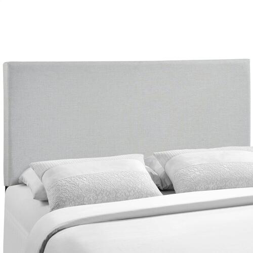 Region Queen Upholstered Headboard in Sky Gray