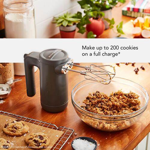 KitchenAid - Cordless 7 Speed Hand Mixer - Matte Charcoal Grey
