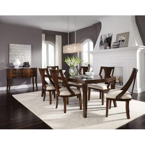 Gallery - Insignia 2-Pack Side Chairs with Upholstered Seat, Brown