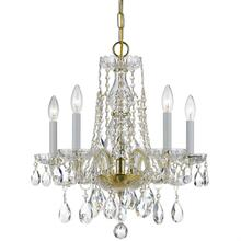 Traditional Crystal 5 Light Sw arovski Strass Crystal Brass M ini Chandelier