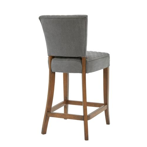 Accentrics Home - Quilted Counter Stool - Gray