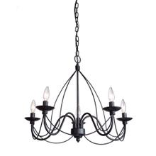 View Product - Wrought Iron AC1485EB Chandelier