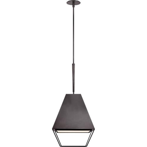 Visual Comfort BBL5102BZ-FA Barbara Barry Odeum 2 Light 17 inch Bronze Hanging Lantern Ceiling Light, Medium