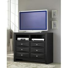 Blemerey Solid Wood Construction Fully Assembled TV Chest Black Finish