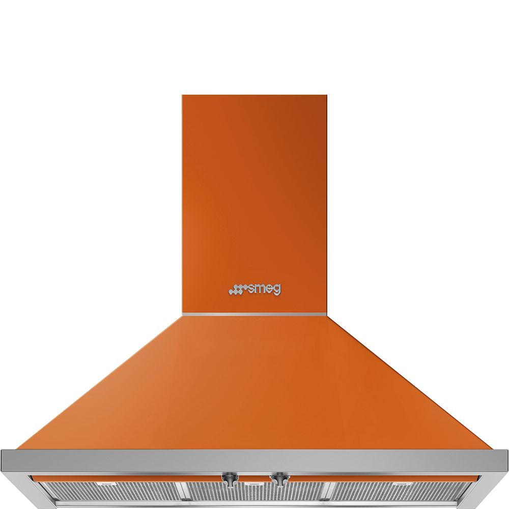"""Smeg36"""" Portofino Chimney Hood, Orange"""