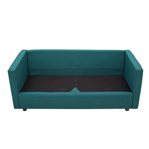 Activate Upholstered Fabric Sofa in Teal