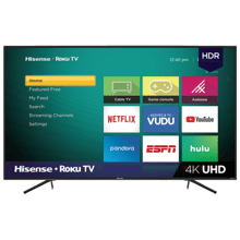 "65"" Class - R6 Series - 4K UHD Hisense Roku TV with HDR (2019) SUPPORT"
