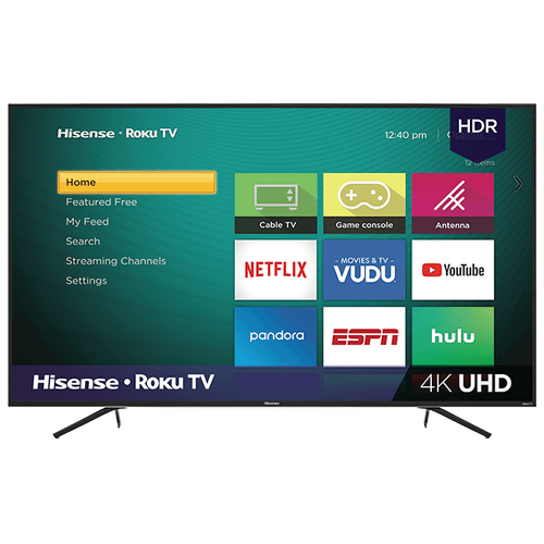 """Gallery - 65"""" Class - R6 Series - 4K UHD Hisense Roku TV with HDR (2019) SUPPORT"""
