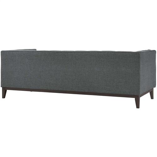 Serve Upholstered Fabric Sofa in Gray