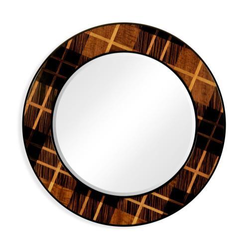 "Hand inlaid Tartan Porthole mirror (28"")"