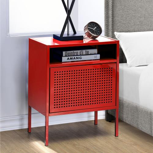 Ember Nightstand in Red