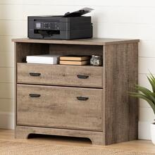 Versa - 2-Drawer File Cabinet, Weathered Oak