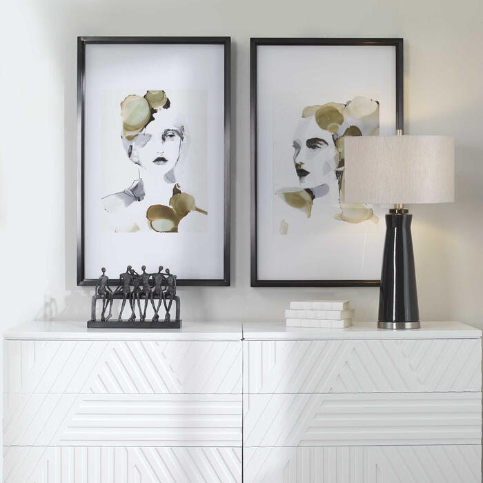 Uttermost - Organic Portrait Framed Prints, S/2, 2 Cartons