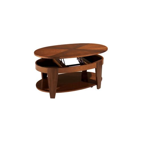 Oval Cocktail Table W/ Lift-top