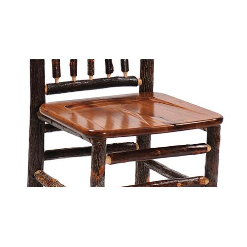 "Counter Stool - 24"" high - Cognac - Wood Seat"