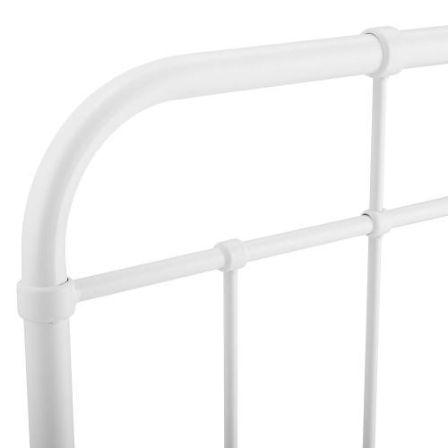 Alessia Full Metal Headboard in White