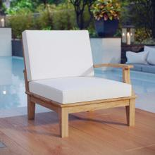 See Details - Marina Outdoor Patio Teak Right-Facing Sofa in Natural White