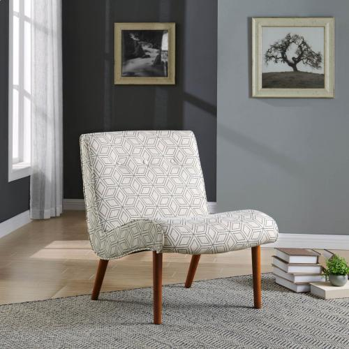 Alexis Fabric Accent Chair Amber Legs, Geo Diamond