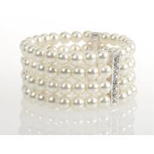 BTQ Rhinestone and Pearl Bracelet