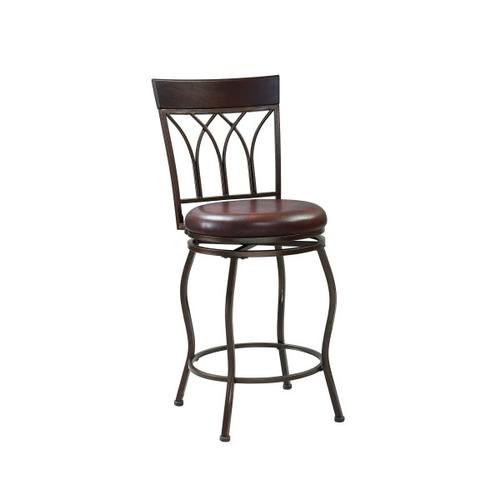 2-in-1 Metal Swivel Barstool