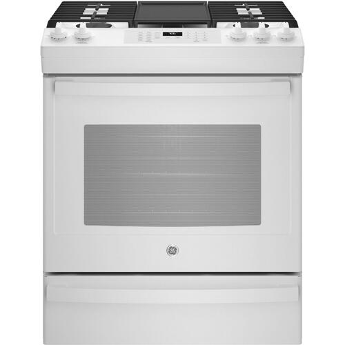 "GE® 30"" Slide-In Front-Control Convection Gas Range with No Preheat Air Fry"
