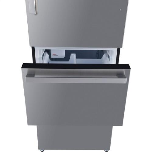 Galanz 12.4 Cu Ft Built In Ice Makers Refrigerator in Stainless Steel