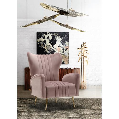 """Opera Velvet Accent Chair - 29"""" W x 34.5"""" D x 39"""" H"""