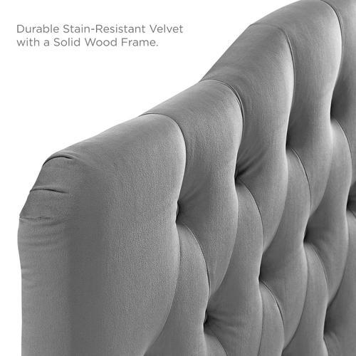Modway - Annabel Full Diamond Tufted Performance Velvet Headboard in Gray