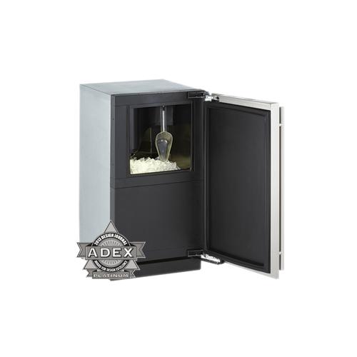 "U-Line - Stainless Right-hand, with pump 36"" Custom Refrigerator / Ice Machine"