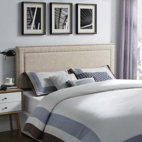 Jessamine Full Upholstered Fabric Headboard in Beige