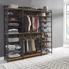 Modern Craftsman 3 Piece Closet Wall Storage Unit