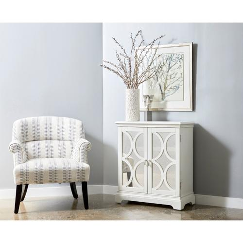 Roll Arm Accent Chair - Cream/Blue
