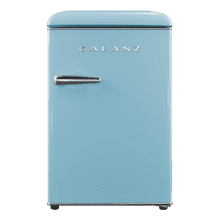 Galanz 2.5 Cu Ft Retro Single Door Refrigerator in Bebop Blue
