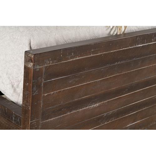 Edinburg Queen Panel Bed, Brown