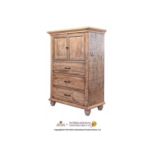2 Doors, 6 Drawer Dresser