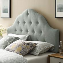 See Details - Sovereign Queen Upholstered Fabric Headboard in Gray