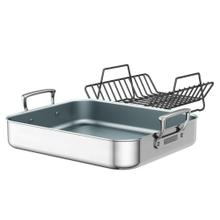 ZWILLING Gourmet Specialties Polished Stainless Steel Ceramic Nonstick Roasting Pan