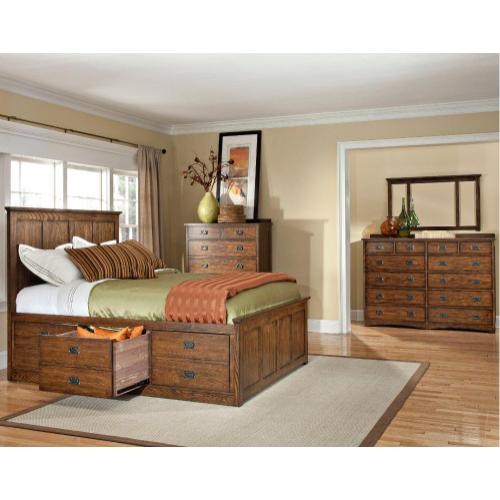 California King Rail, 3 Drawer Storage
