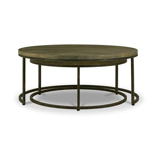 Paddington Round Coffee Tables w/ Parquet Top