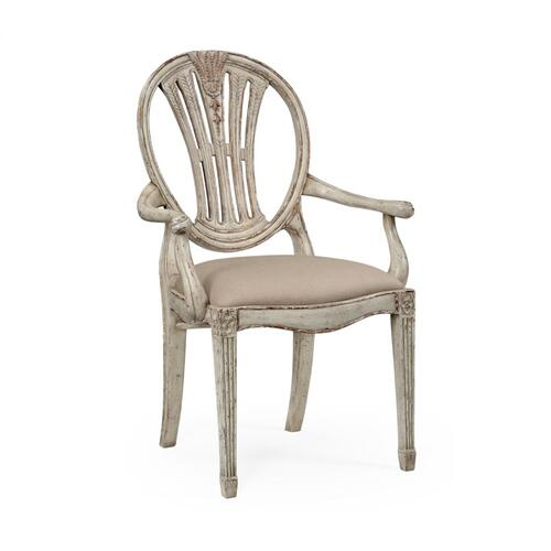 Hepplewhite Wheatsheaf armchair (Grey)
