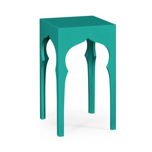 Square Lamp Table (Aruba Blue)
