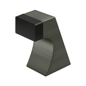 "Floor Door Bumper 2-1/2"", Contemporary, Solid Brass - Antique Nickel"