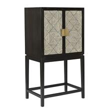 "54"" Wood 2-door Cabinet, Black"